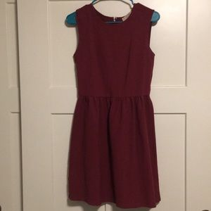 Cranberry A-Line Loft Dress